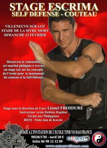 Stage couteau self-défense avec Lionel Froidure